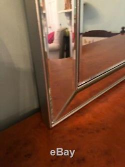 Extra Large Art Deco style Venetian wall mirror, stunning quality! Rrp £1200