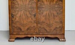 Fabulous Figured Burr Wallnut Art Deco Bedroom Suite Wardrobe