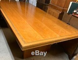 Fantastic X Large 1950s Art Deco Boardroom Table / Dining Table Two Available