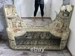 Fornasetti Style Dressing Table Decoupage French Mirror Console 50s 60s Unusual
