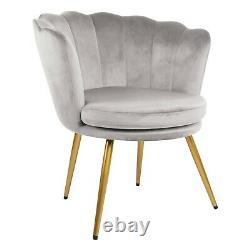 Genesis Flora Accent Tub Chair Scallop Armchair Petal Back With Golden Legs