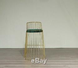 Green Velvet Breakfast Bar Stool Premium Gold Metal Frame UK Seller/UK Stock
