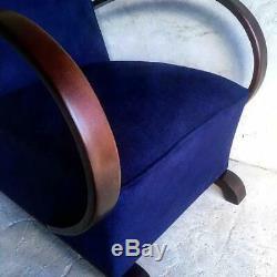 Halabala Style Original Art Deco Mid Century Rocking Bentwood Armchair