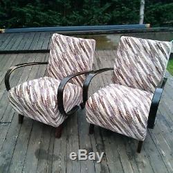 Halabala´s armchairs, art deco style, first half 20th century