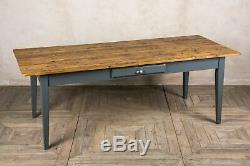 Handmade Pine 250cm French Farmhouse Table With A Painted Base The Provence