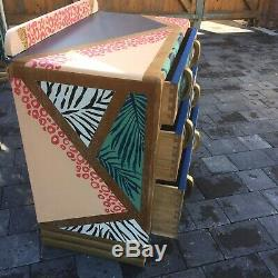 Handpainted 3 Piece Bedroom furniture. V Unusual! Highly Unique In Every Way