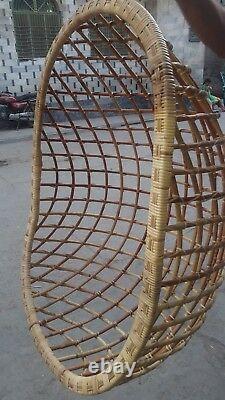 Hanging Cane Handmade Wicker Chair Swing