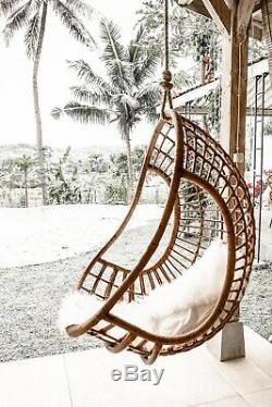 Hanging Rattan Egg Hugo Swing for Indoor and Outdoor