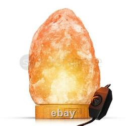 Himalayan Salt Lamp Crystal Pink Rock Salt Lamp Natural Healing 100% Genuine New