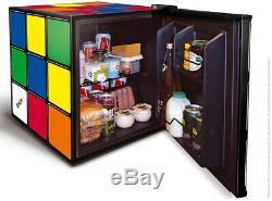 Husky 43L Rubiks Cube Drinks Fridge Mini Retro Food Small Beer Chiller Cooler