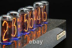 IN-18 Nixie Tubes Clock Synthetic Granite Case GPS 12/24H FREE DELIVERY 3-5 Days
