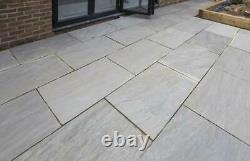 Indian Kandla Silver Grey Sandstone Hand Cut Patio Stone Paving Slabs 600X900 MM
