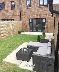 Indoor & Outdoor Rattan Effect Garden Patio Sofa set with Table & Cushions