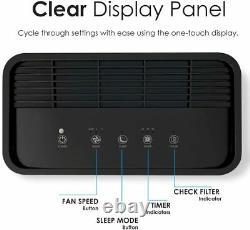 Indoor True HEPA Filter Air Purifiers Home Office Bedroom Filters Allergies Dust