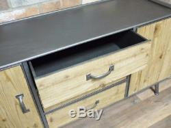Industrial Vintage Style Wood Large Sideboard, Retro Cabinet With Storage