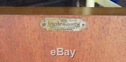 Inglesants Art Deco 1934 Bur Walnut Tallboy Cabinet Cupboard On Chest Of Drawers