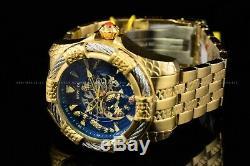 Invicta 52mm Bolt Snake 24K Gold Plated Automatic Skeletonized Bracelet Watch