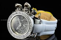 Invicta 52mm Subaqua Sea Dragon Carved WOOD CULTURAL Torpedo Leather Strap Watch