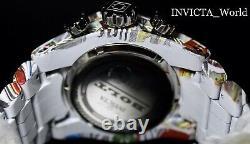 Invicta Bolt Zeus 52mm Hydroplated Bracelet Graffiti White Chronograph Watch New