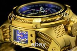 Invicta Men's 56mm Bolt Zeus Tria Gold Plated Blue Choronograph Swiss Watch