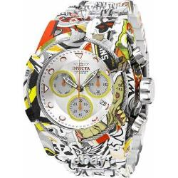 Invicta Men's Watch Bolt Chronograph Silver and Yellow Dial Bracelet 27095