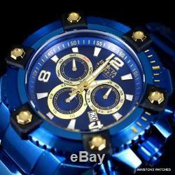 Invicta Reserve Grand Octane Blue Label 63mm Steel Bracelet Swiss Mvt Watch New