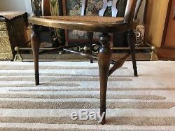 John Tucker And Son Art Deco Chair Rattan Caned Retro Vintage Armchair Desk 20s