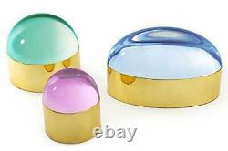 Jonathan Adler Globo Box Brass & Pink Small