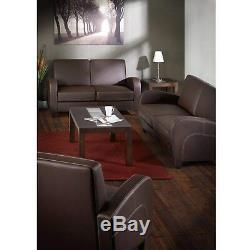 Julian Bowen Vivo Art Deco Style Brown Faux Leather Arm Chair Chestnut Feet
