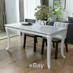 Kitchen Dining Table White High Gloss Table Rectangle Dining Room Home Office UK