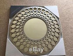 LARGE SILVER wall mirror Art Deco Overmantel moroccan Beehive Round 63cm SALE