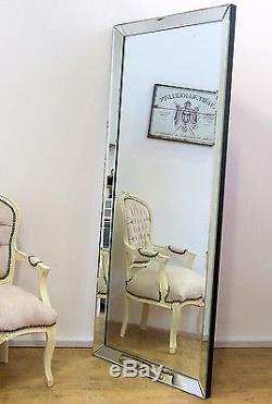 LUNA Modern Full Length XLarge Frameless Wall Leaner Floor Mirror 178cm x 76cm