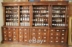 Large Budapest Apothecary/Pharmacy/Chemists Shop Display Cabinet Late 1800s