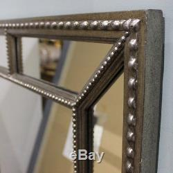 Lawson Wide Frame Full Length Leaner Pewter Silver Wall Floor Mirror 62 x 31