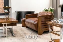 Leather Sofa Luxurious Art Deco Sofa Classic Stlye Leather Sofa 1930s Style