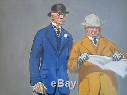 Leyendecker Style Unsigned Painting Art Deco Antique Early American Portrait