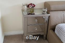 Lila Mirrored Bedside Table