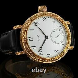Men Wrist Watch Vintage Mechanical 17J Restored Swiss Ulysse Nardin Movement
