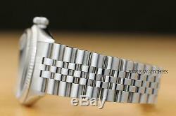 Mens Rolex Datejust Blue Vignette Diamond 18k White Gold & Stainless Steel Watch
