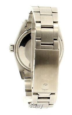 Mens Vintage ROLEX Oyster Perpetual Date 34mm RED Dial Stainless Steel Watch