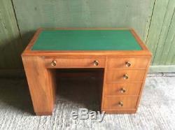 Mid century 1960's Art Deco style Walnut desk
