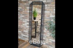 Mirror Large Art Deco Wall Mounted Black Metal Frame H183cm Full Length Bedroom