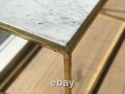 New Modern Deco Rectangular Coffee Table Marble Gold Frame From Graham & Green