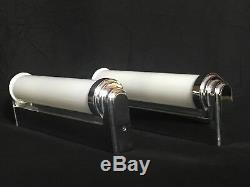 Original Französische Art Deco Style Wall Lamps Wandlampen Design Chrom