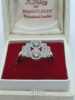 PLATINUM ART DECO STYLE Diamond Ring