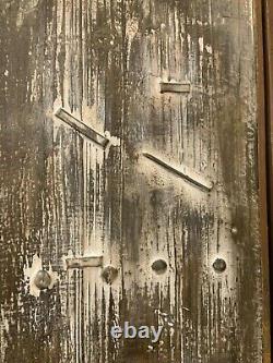 Pair Giles Aged Restoration Barn Door Style XXL 60 Wall Art Decor Panels