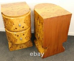 Pair Of Art Deco Style Bedside Cabinets C380