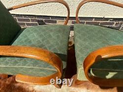 Pair Of Genuine Halabala Model 2 Armchairs Cheaper For Re-covering Jun21-22