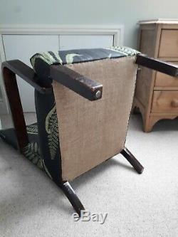 Parker Knoll fireside chair art deco retro vintage bedroom armchair