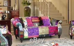 Patchwork Sofa Suite Set Sofas 3+2+1 New Sofas ANNA RANGE couches settees Luxury
